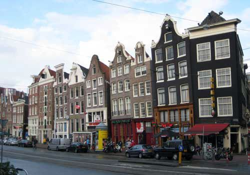 Leaning houses Amsterdam